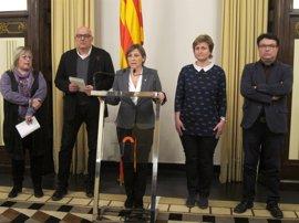 """Carles Puigdemont y el Govern trasladan su """"apoyo"""" a los diputados investigados por el TSJC"""