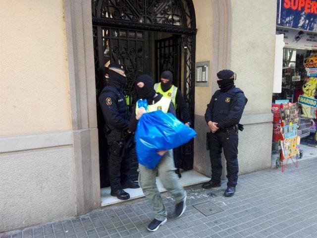 Operación contra el yihadismo en Barcelona de Mossos d'Esquadra