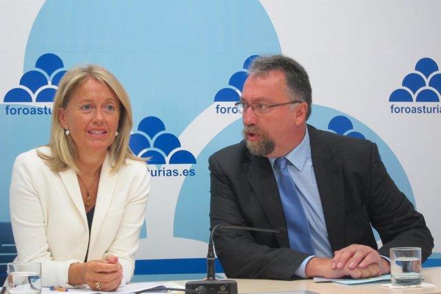 Cristina Coto e Isidro Martínez Oblanca.