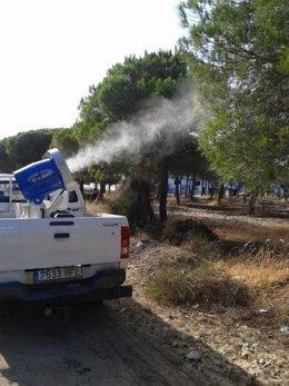 Servicio de mosquitos de la Diputación de Huelva.