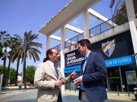 """Cs pide acelerar el trámite para declarar de utilidad pública la Fundación Málaga CF, """"clave"""" para la academia"""