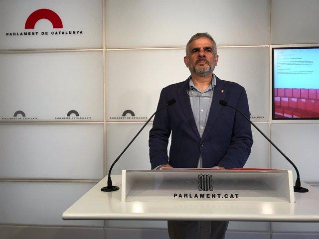El portavoz de Cs en el Parlament, C.Carrizosa