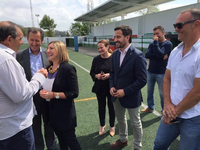 Irene García comprueba las obras del Plan Invierte en Chiclana