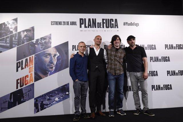 Photocall de la película Plan de fuga, con Luis Tosar y Javier Gutiérrez