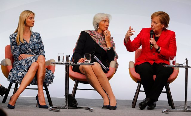 Ivanka Trump, Christine Lagarde y Angela Merkel
