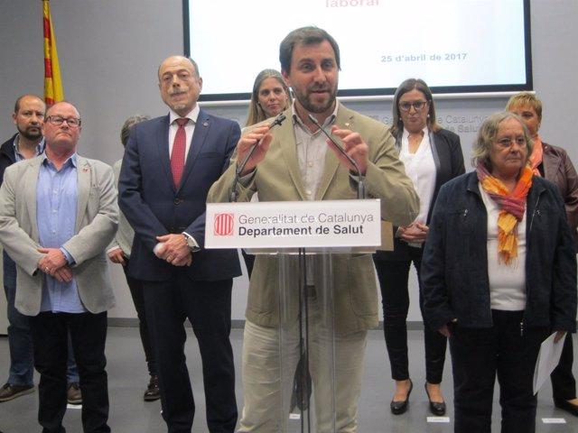 El conseller Toni Comín presenta el Plan de Estabilidad Laboral
