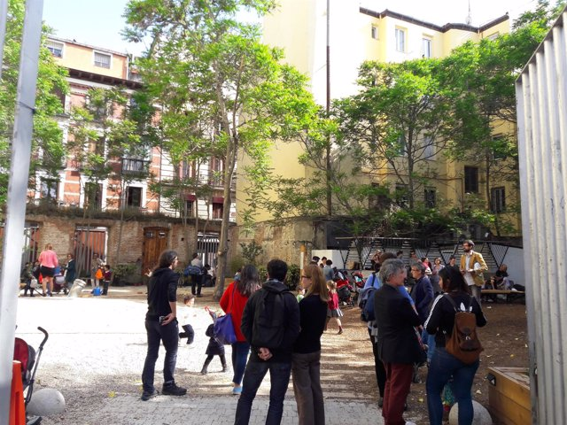 Imagen del solar reconvertido en parque