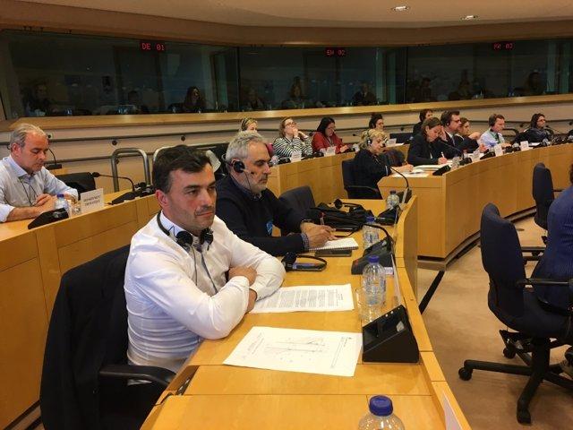 El alcalde de Vallae de Zamanzas (Burgos) en el Parlamento Europea