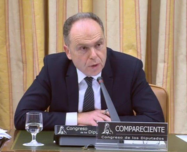Juan Bravo, presidente de Adif, en la comisión de Fomento del Congreso