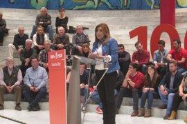 """Susana Díaz se compromete a no """"entregar el PSOE a nadie ni a imitar a nadie"""""""