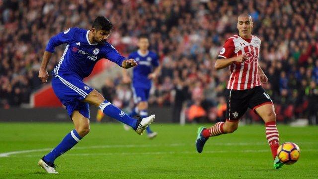 Diego Costa y Romeu en el Chelsea - Southampton