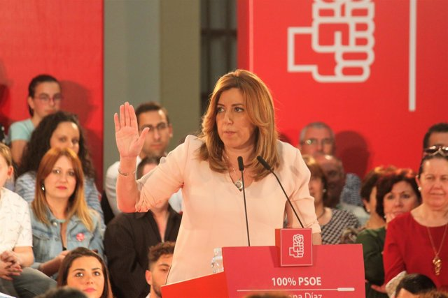 Susana Díaz en un acto en Jerez