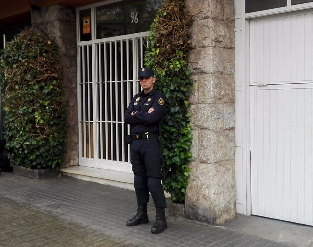 Registro de la Policía Nacional en la casa de Jordi Pujol