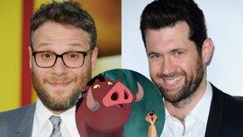 Billy Eichner y Seth Rogen serán Timón y Pumba en el remake de El Rey León