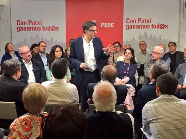 Patxi López presenta en Madrid sus propuestas en materia social
