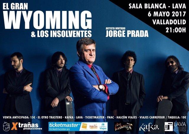 Cartel del concierto de Los Insolventes.