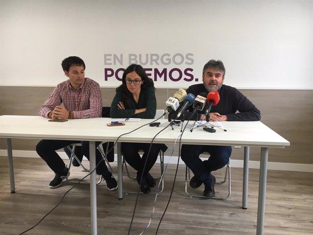 Félix Díez, Laura Domínguez e Ignacio Lacámara