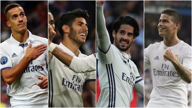 Lucas Vázquez, Asensio, Isco y James Rodríguez (Real Madrid)