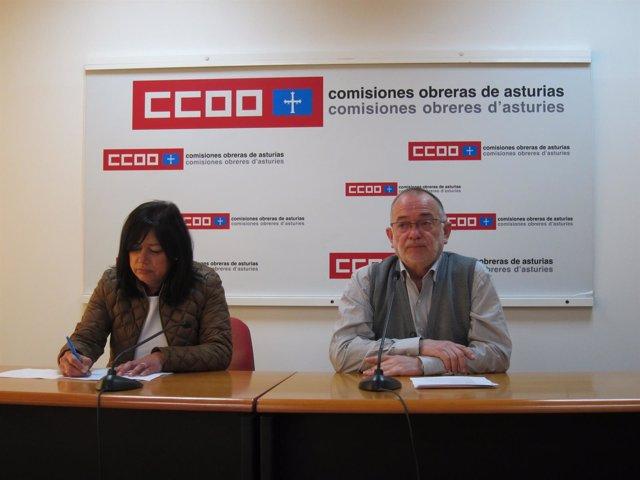 Emma Fernández (UGT) y José Antonio Iglesias (CCOO)