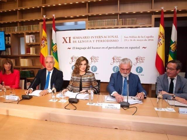 La reina Letizia inaugura edición anterior de Seminario Lengua San Millán