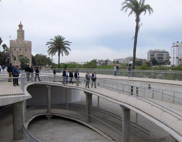 Antonio Muñoz visita las obras de Marqués de Contadero