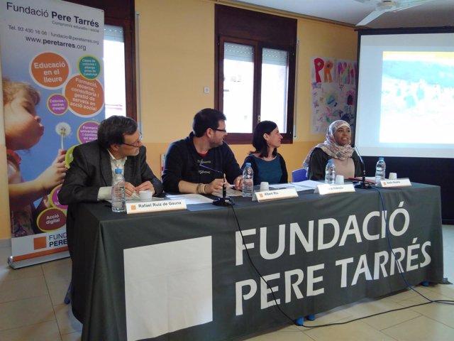 R. Ruiz de Gauna, A. Riu (Fund.Pere Tarrés), M.Valencia y B.Boukta (testimonios)
