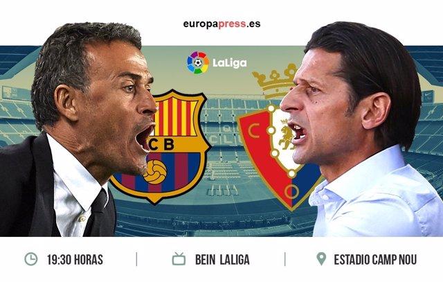 Horario y dónde ver el Barcelona – Osasuna | 34ª jornada Liga Santander