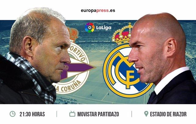 Horario y dónde ver el Deportivo de La Coruña – Real Madrid | 34ª jornada Liga S