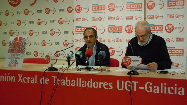 UGT Galicia y CC.OO. Presentan las movilizaciones del 1 de mayo