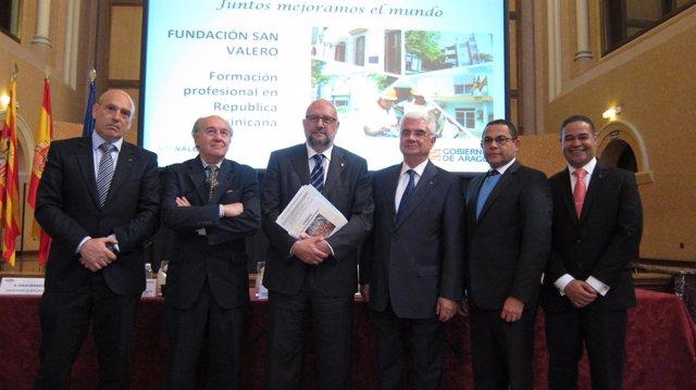 César Romero, Armando Riesgo, Miranda, García de Jalón, Ovalles y José René