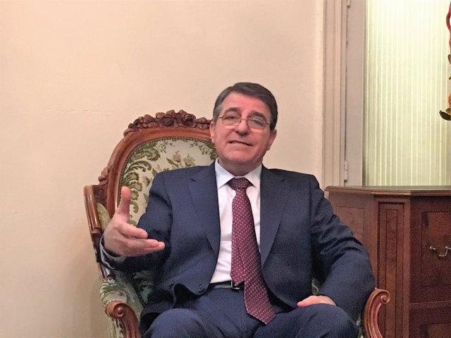 Milad Atieh, el encargado de Negocios de la Embajada de Siria en España
