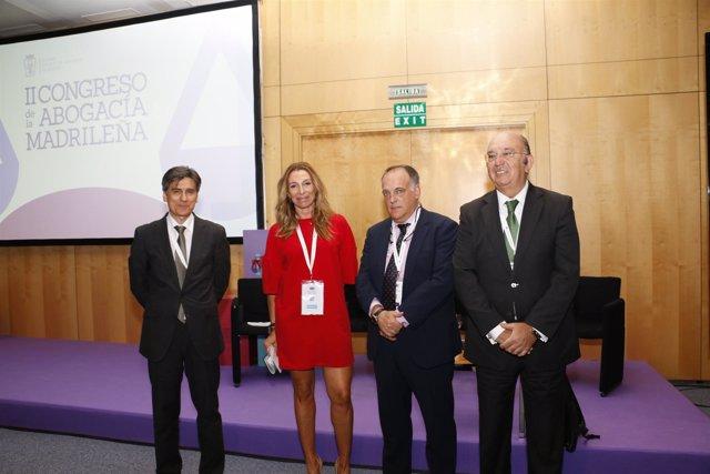 Tebas participa en la ponencia 'Lucha contra la corrupción en el deporte',