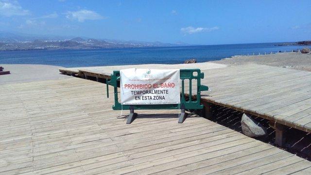El Ayuntamiento cierra la Playa de El Confital