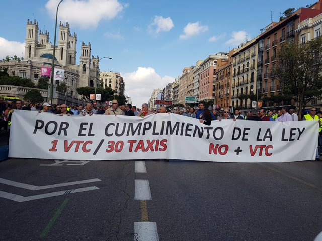 Manifestación taxistas.