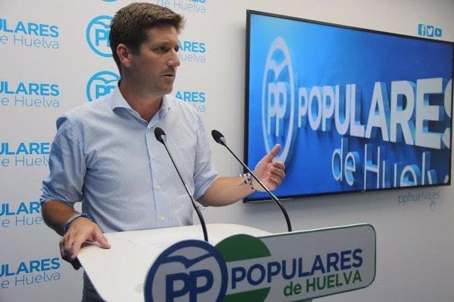 El parlamentario andaluz por el PP de Huelva, Guillermo García Longoria.