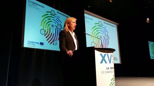 La consejera de Economía, Industria y Empleo de Aragón, Marta Gastón.