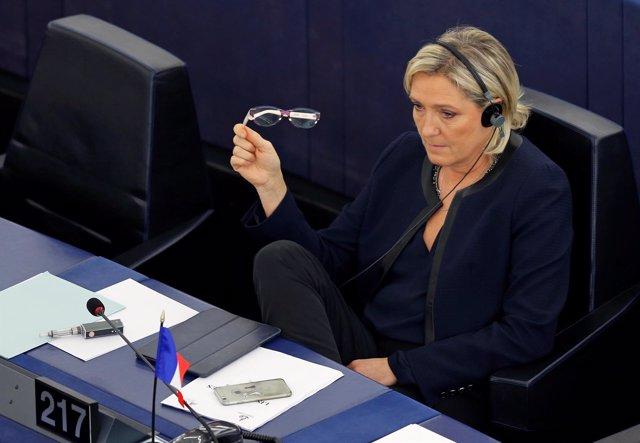 Marine Le Pen en la Eurocámara