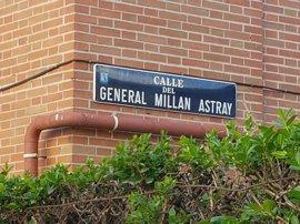 Antiguos legionarios denuncian a Carmena y Sauquillo por el cambio de nombre de la calle Millán Astray