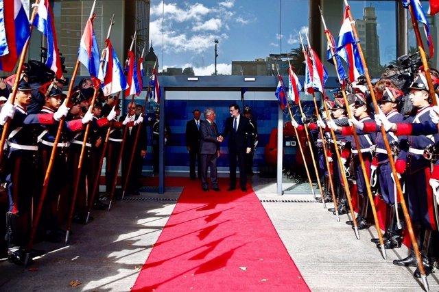 Reunión de Mariano Rajoy con el presidente de Uruguay, Tabaré Vázquez