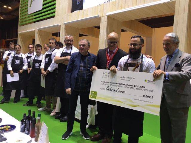 Alberto Montes, del restaurante Atrio, Premio AOVE 'Jaén, paraíso interior'