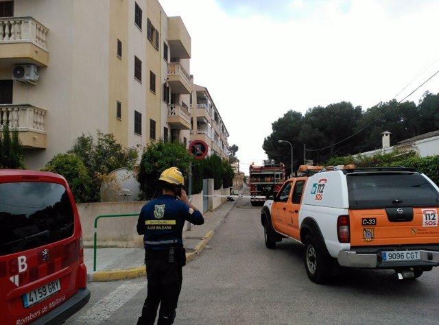 Los bomberos actúan en Cala Ratjada