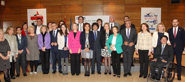 Foto de familia del Consejo Territorial de Servicios Sociales.