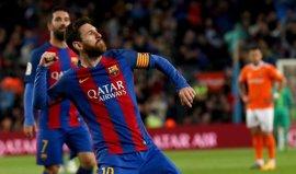 Messi lanza la goleada a Osasuna y Mascherano remata la fiesta