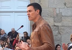 Pedro Sánchez, en Pontevedra