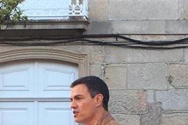 """Pedro Sánchez, en Pontevedra: """"¡Manda carallo con la abstención del PSOE!"""""""