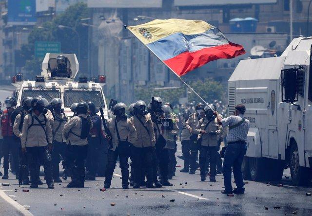 Manifestación opositora en Caracas