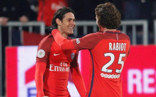 Paris Saint Germain Edinson Cavani Rabiot