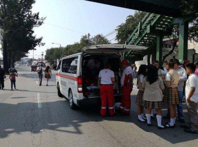 Atropello en un colegio de Guatemala