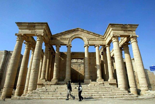 Un templo de la angigua ciudad de Hatra, en Irak