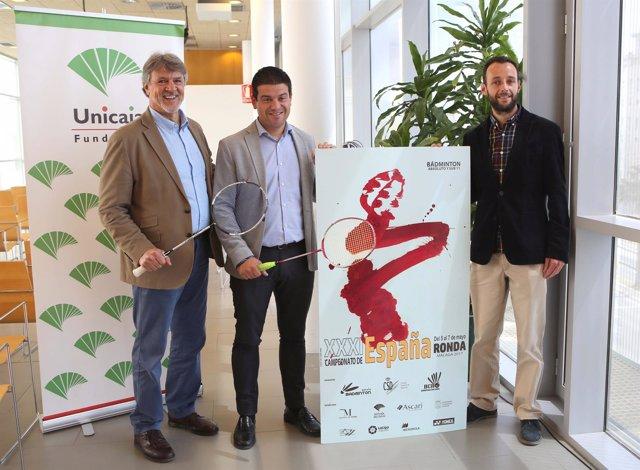 Presentación campeonato de españa de badminton en ronda